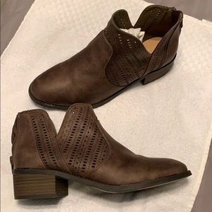 BROWN NEW DIRECTION BOOTIES -NEW IN BOX!!